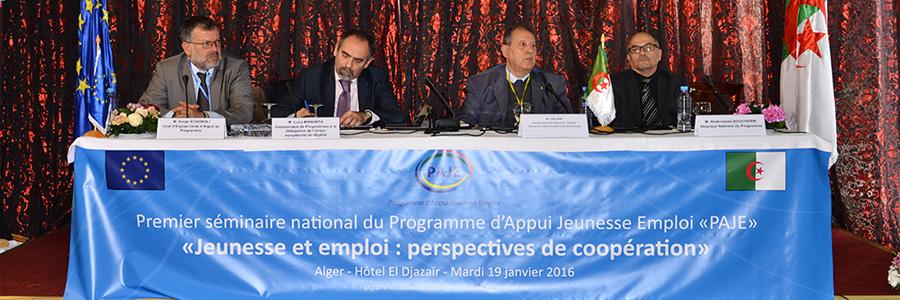 Premier séminaire national du Programme d'Appui Jeunesse Emploi (PAJE)